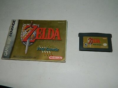 Legend of Zelda: A Link to the Past Four Swords Game Boy Advance GBA w/ Manual
