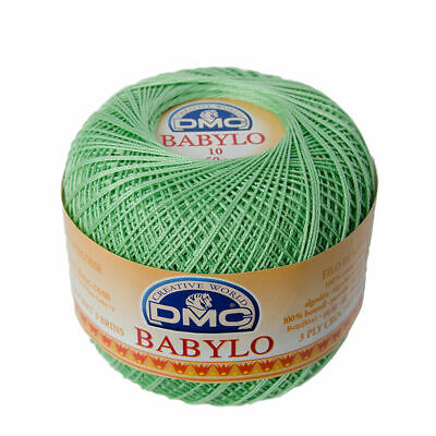 DMC Babylo 10 Crochet Cotton, 50g Ball, Colour 508 Green