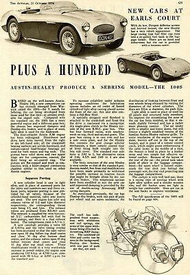 1954 Austin Healey  100S Print Ad  Advertisement  The Auto Car