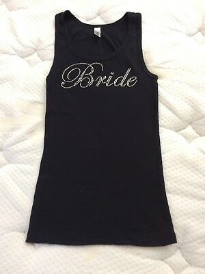Bride bedazzled women's tank top size small