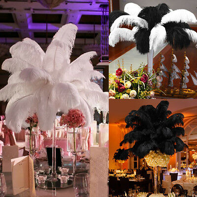 "20-100 PCS Wholesale Quality Natural OSTRICH FEATHERS 12-14"" Party Table Decor"