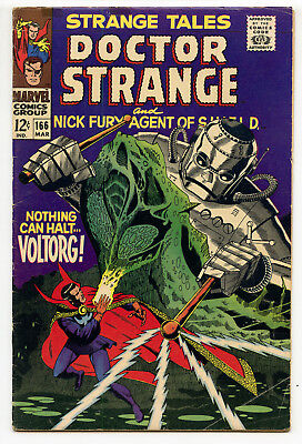 JERRY WEIST ESTATE: STRANGE TALES #166 (Marvel 1968) VG condition STERANKO!
