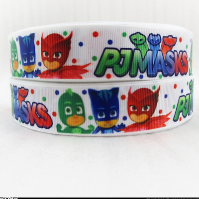 "PJ Masks Ribbon 1m long 1"" wide"