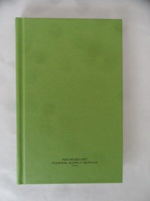 """Federal Supply Service Notebook (8"""" x 5"""")"""