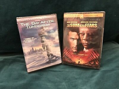 2 New DVS - The Sum Of All Fears & The Day After Tomorrow - Widescreen Editions