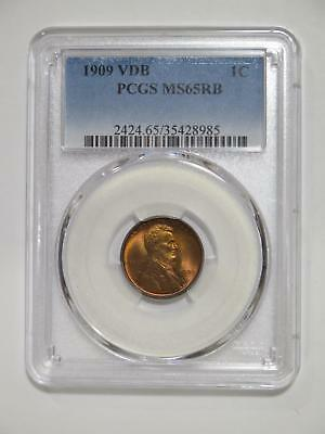 1909 Vdb Lincoln Wheat Cent Pcgs Graded Ms65 Rb Toned Type Coin Collection Lot