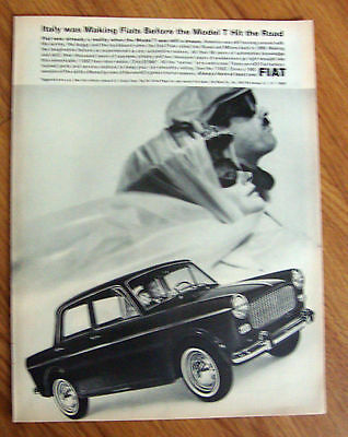 1965 Fiat 1100D Sedan Ad Italy was Making Fiats Before the Model T Hit the Road
