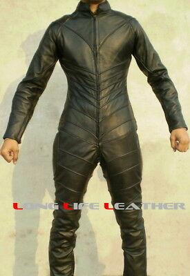 Custom Size Color Tailor Made Leather Catsuit Piping Padded Back Brand New #2906