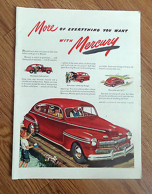 1946 Mercury 8 Coupe Ad   More of Everything Golfing Theme Boy Water Golf Balls