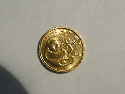 1984 1/20 Panda .999 Authentic Gold Coin