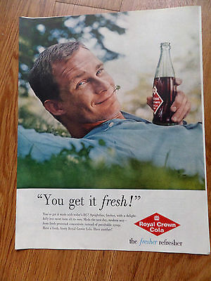 1960  RC Royal Crown Cola Ad  You get it Fresh! The Fresher Refresher