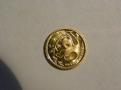 1985 1/20 Panda .999 Authentic Gold Coin
