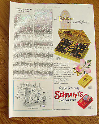 1954 Schrafft's Chocolates Candy Ad Easter 1954 Chase Brass Copper Ad