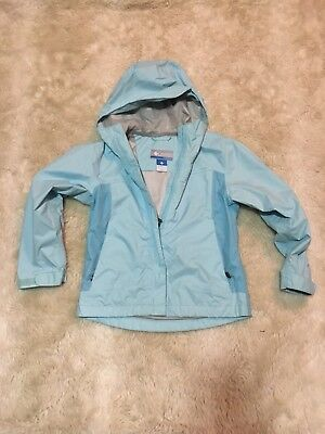 COLUMBIA  TITANIUM OMNI-TECH Rain Jacket Windbreaker sz 7/8  Blue