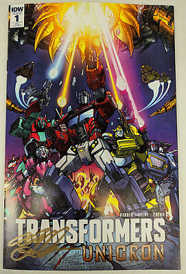 TRANSFORMERS UNICRON #1 1986 Movie Homage Exclusive RE Variant Cover SIGNED