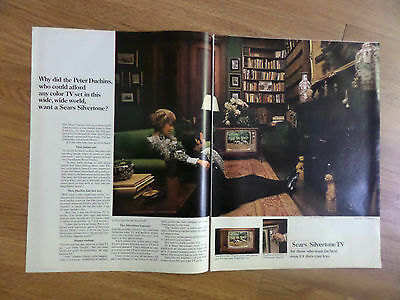 1969 Sears TV Television Ad  Silvertone Color   Peter Duchins