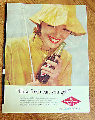 1960  RC Royal Crown Cola Ad  How Fresh can you Get?
