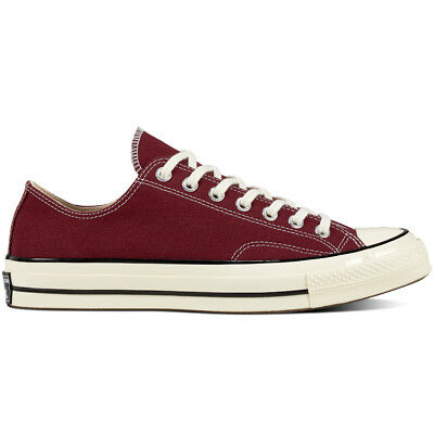Converse Chuck Taylor All Star 70s 1970s Low OX Dark Burgundy Red White 162059C