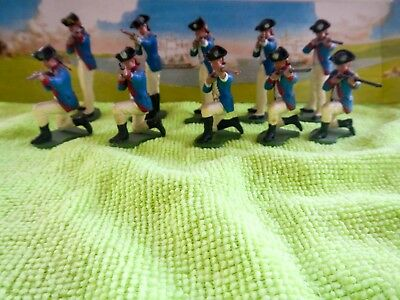 10x Britains Swoppet AWI American War of Independence American Infantry firing