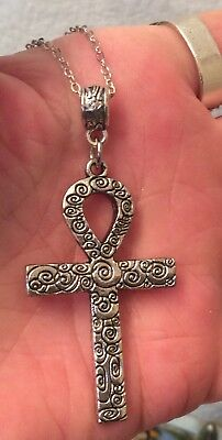 Egyptian Ankh Symbol Of Life Cross Pendant & Necklace + Necklace Choices