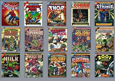 MARVEL TREASURY EDITION Lot of 16 Books and 3 Calendars!
