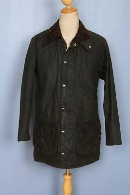 Mens BARBOUR Beaufort Waxed Jacket Green Size 36