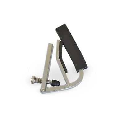 CHROME GUITAR CAPO adjustable acoustic classical electric strings curved fret