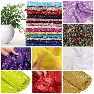 3mm Sequin Fabric 2W Stretch Photography Backdrop Party Table Cloth 130cm wide