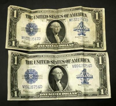Two $1 United States Silver Certificates Lot 249