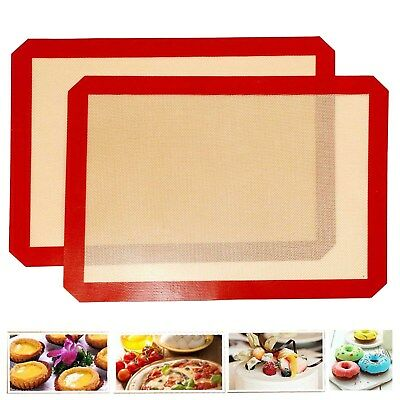 Nonstick Silicone Mat Baking Red Oven Pastry Liner Macaron Cake Sheet Kitchen