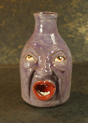 "FACE VASE ""OH NO YOU DON'T"" – Face Jug – Vase for dried grasses and pods"
