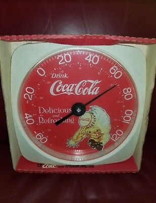 Vintage Drink Coca-Cola Advertising Thermometer~NICE
