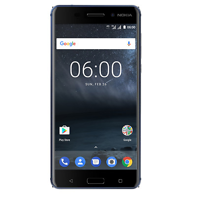 Nokia 6 32GB tempered blue Dual-SIM Android 7.1 Smartphone