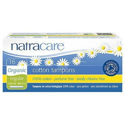 Natracare Organic Regular Cotton Tampons With Applicator - 16 Count Pack Of 12