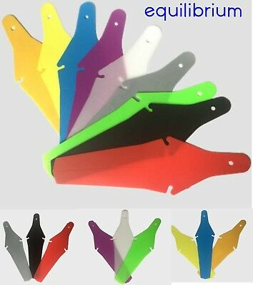 Bicycle Rear Saddle Fit Mudguard Fender - Folds Away! - Ass Saver Style! Colours