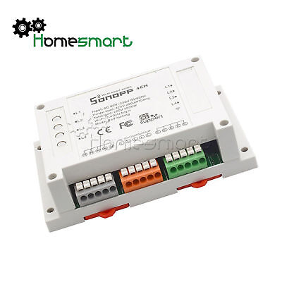 Sonoff Pro 4CH R2 4 Channel Din Rail Mounting Smart Switch  Automation Timer AHS