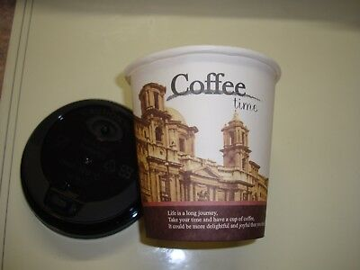 Coffee Cups Disposable 10 Oz With Black Lids 100 Cups And 100 Lids