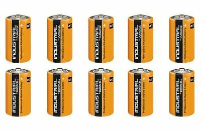 Duracell 10 x D size Industrial Battery Alkaline Replaces Procell Expiry 2021