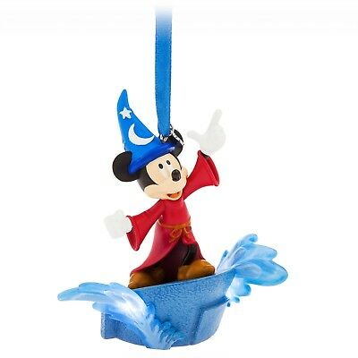 Disney Store 2018 Boxed Sorcerer Mickey Mouse Light Up Sketchbook Ornament New