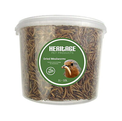 Heritage High Protein Quality Dried 2kg Mealworms Wild Bird Food Feed Feeding