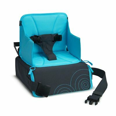 Munchkin Travel Booster Seat Blue Travel Bag Transforms To Dinning Safety Chair