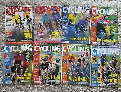 Joblot Cycling Plus 8 Magazines January to August 1999 incl. Midsummer (no Mar.)