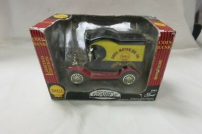 TEXACO 1912 Ford SHELL MOTOR OIL  - 1:24 scale coin bank - Gearbox - CIB