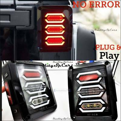 Fanali posteriori LED JEEP WRANGLER JK tail lights luci fari NERO tuning OMOLOGA
