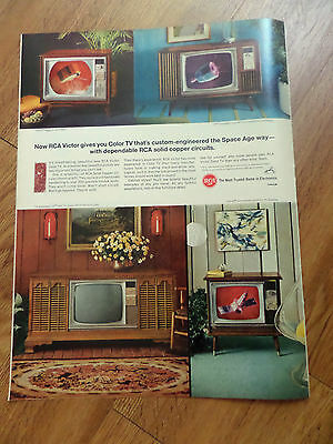 1966 RCA TV Television Ad Engineered the Space Age Way Shows 4 Models