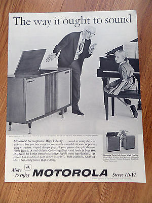 1959 Motorola Stereo HI-FI Phonograph Ad  Stereophonic High Fidelity