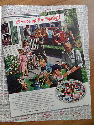 1948 Can Manufacturers Institute New York Ad Spruce up for Spring Cleanup