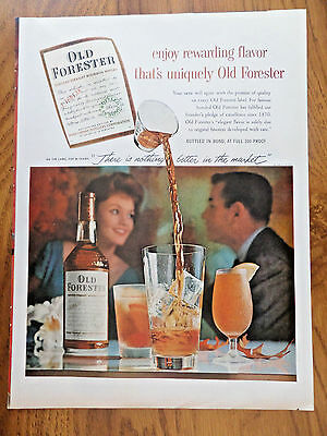1959 Kentucky Whiskey Ad Old Forester