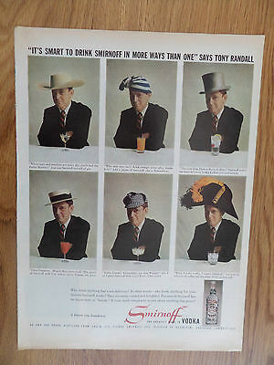 1959 Smirnoff Vodka Ad  Smart to Drink in More Ways Than One Tony Randall
