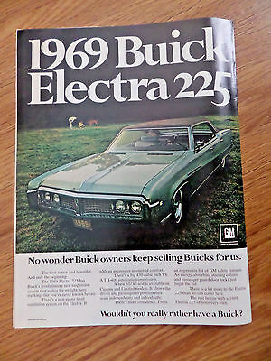 1969 Buick Electra 225 Ad Wouldn't you really rather have a Buick?
